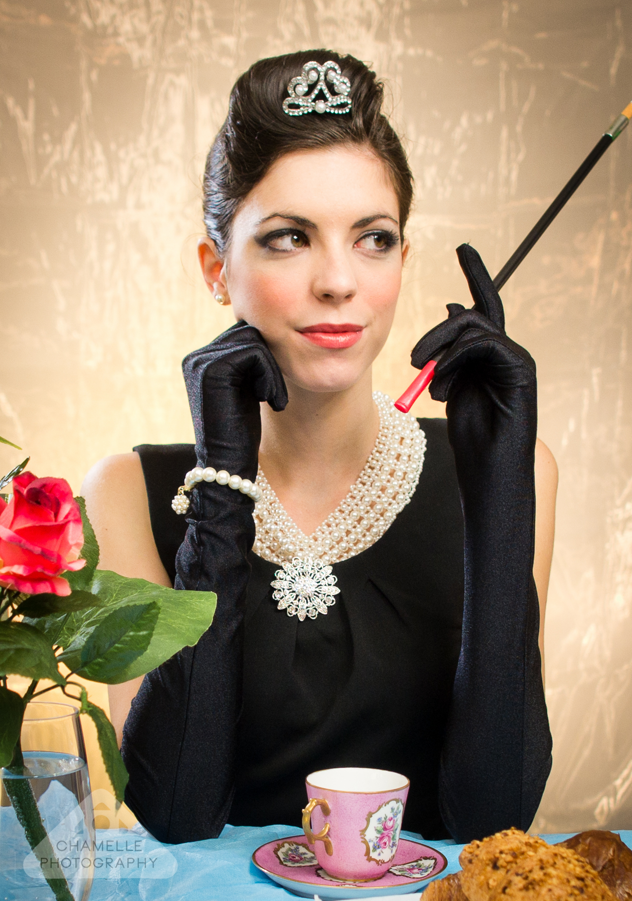Breakfast at Tiffany's theme photoshoot - Chamelle Photography