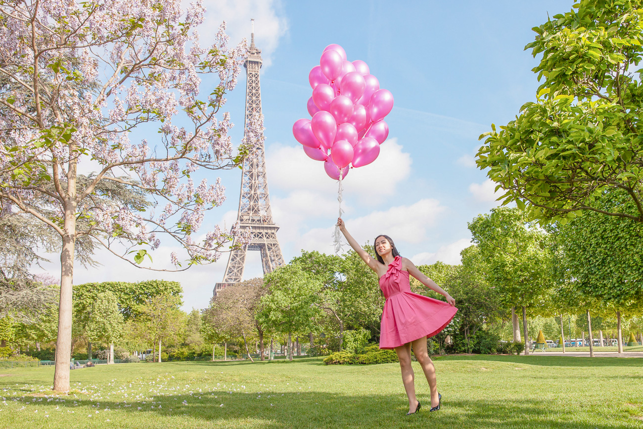 Chamelle Photography and Travel blog - Paris Eiffel Tower spring