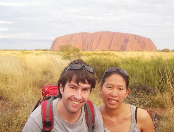 Travel blogger interviews Ayers Rock Uluru Australia Amy Footprints and Memories