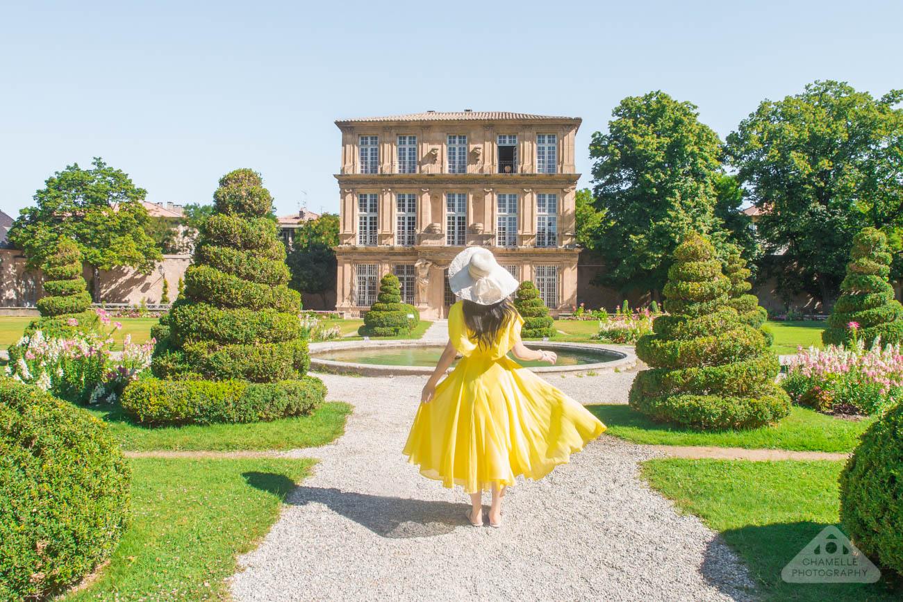Pavillon vendome Aix en Provence France travel photoshoot