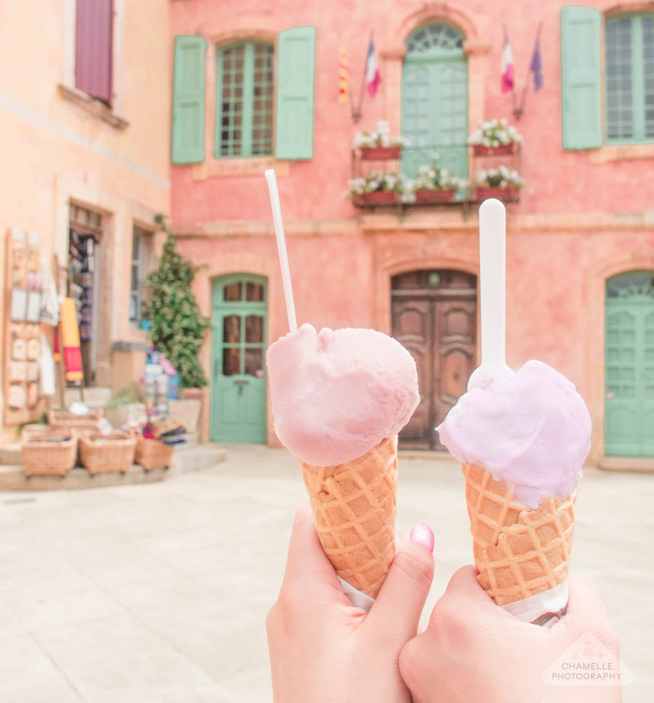 Roussillon Provence France lavender ice cream