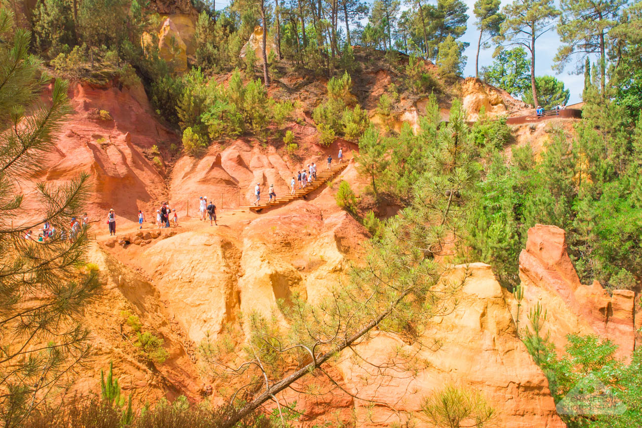 Roussillon Provence France red ochre