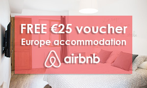 Airbnb voucher 25 euros off accommodation