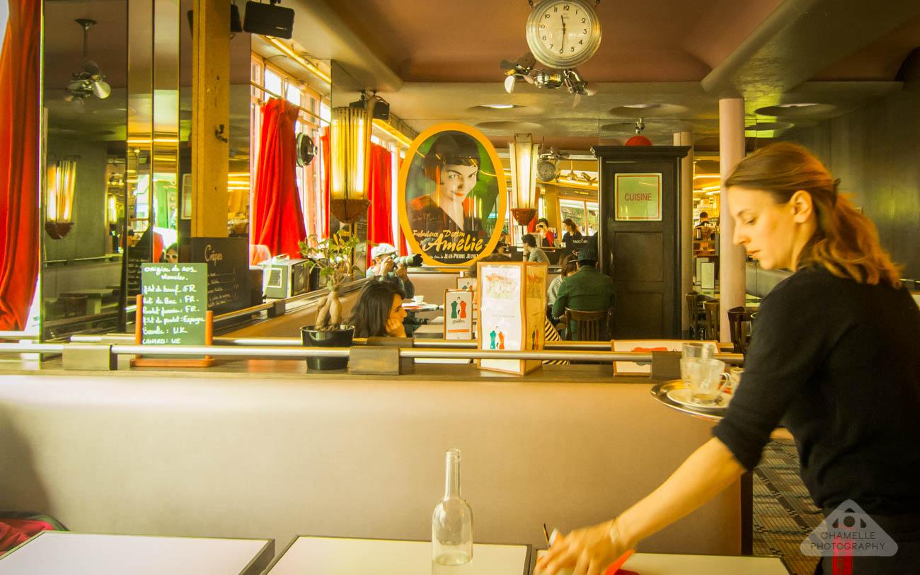 Amelie Poulain film locations Montmartre Paris France travel screenshots Cafe Les deux Moulin