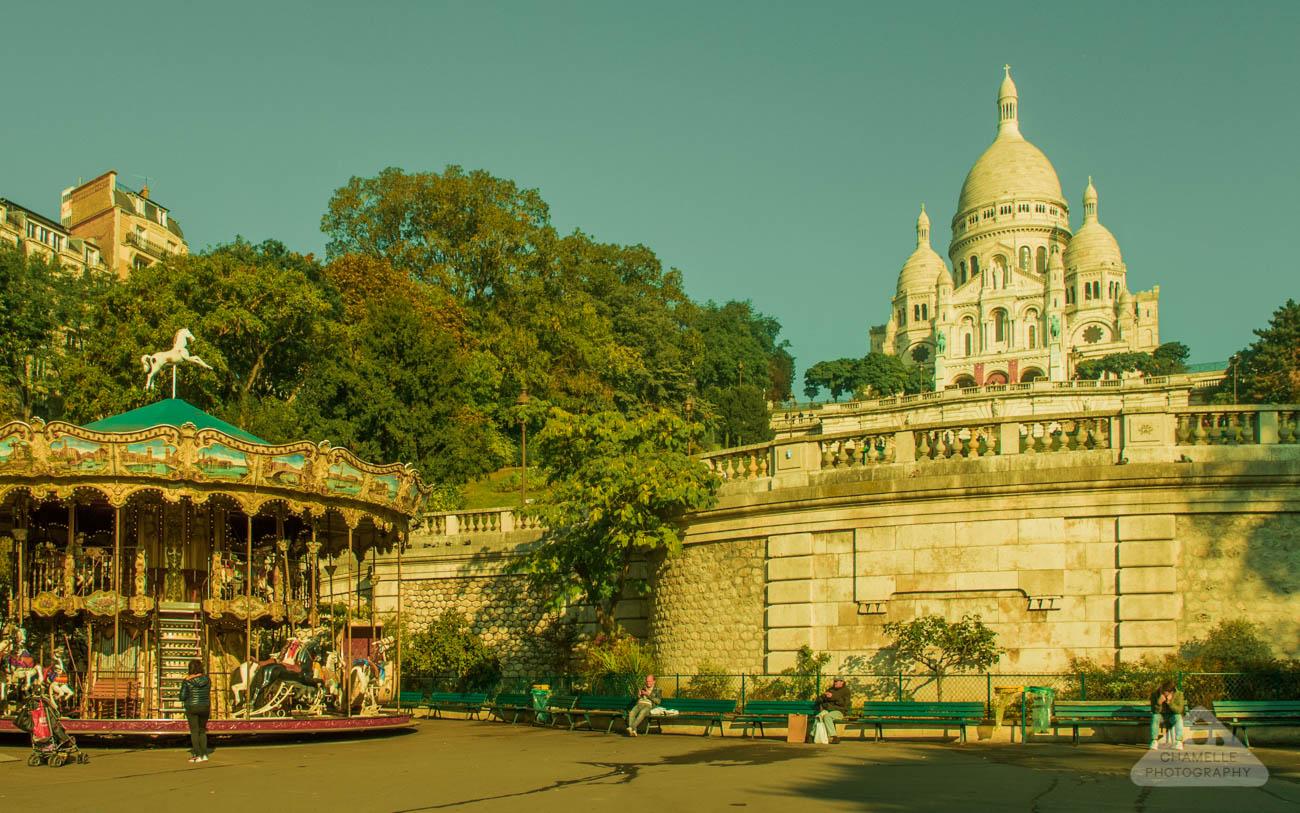 Amelie Poulain film locations Montmartre Paris France travel screenshots Basilica Sacre Coeur