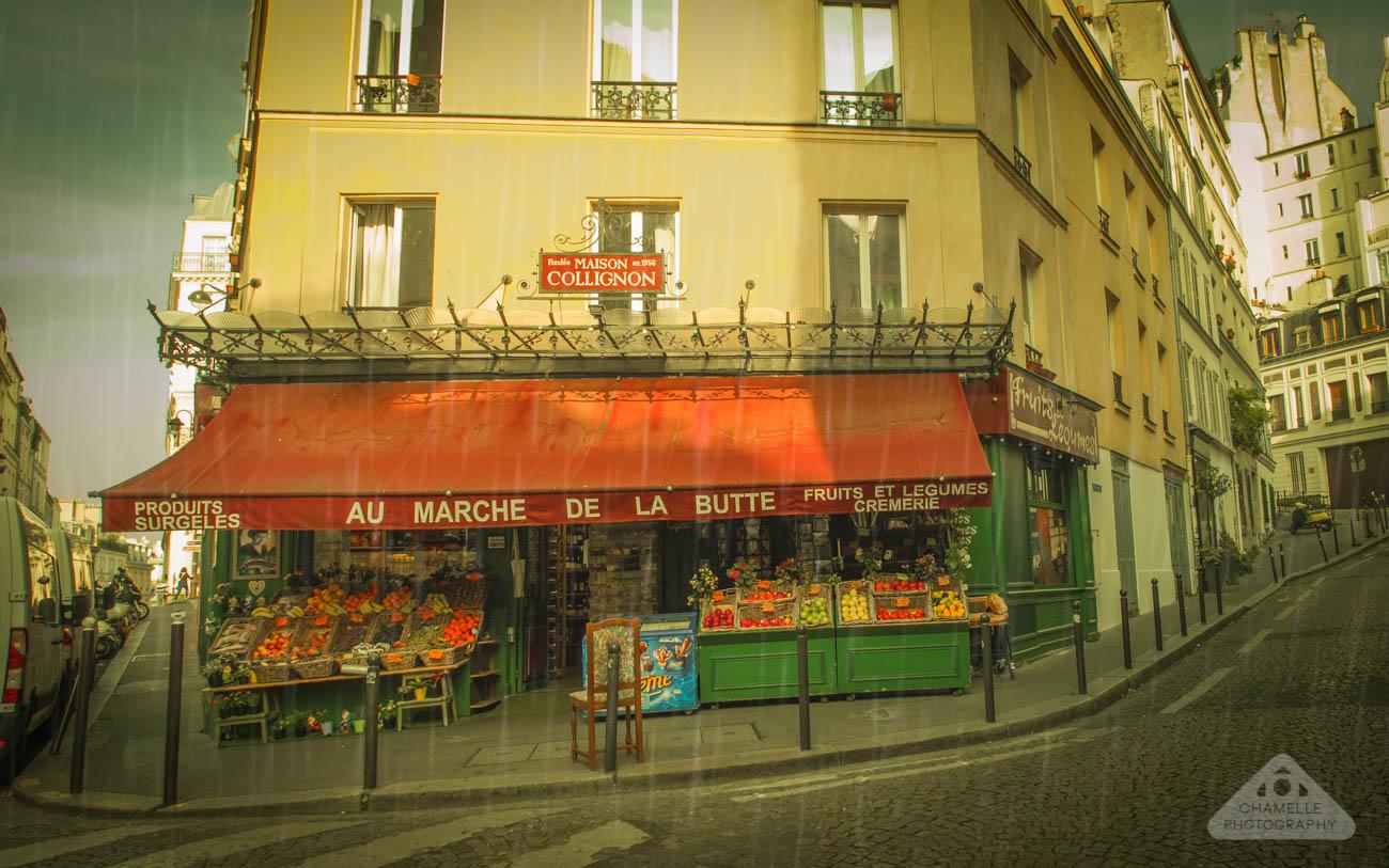 Amelie Poulain film locations Montmartre Paris France travel screenshots Jean-Pierre Jeunet Maison Collignon epicerie supermarket