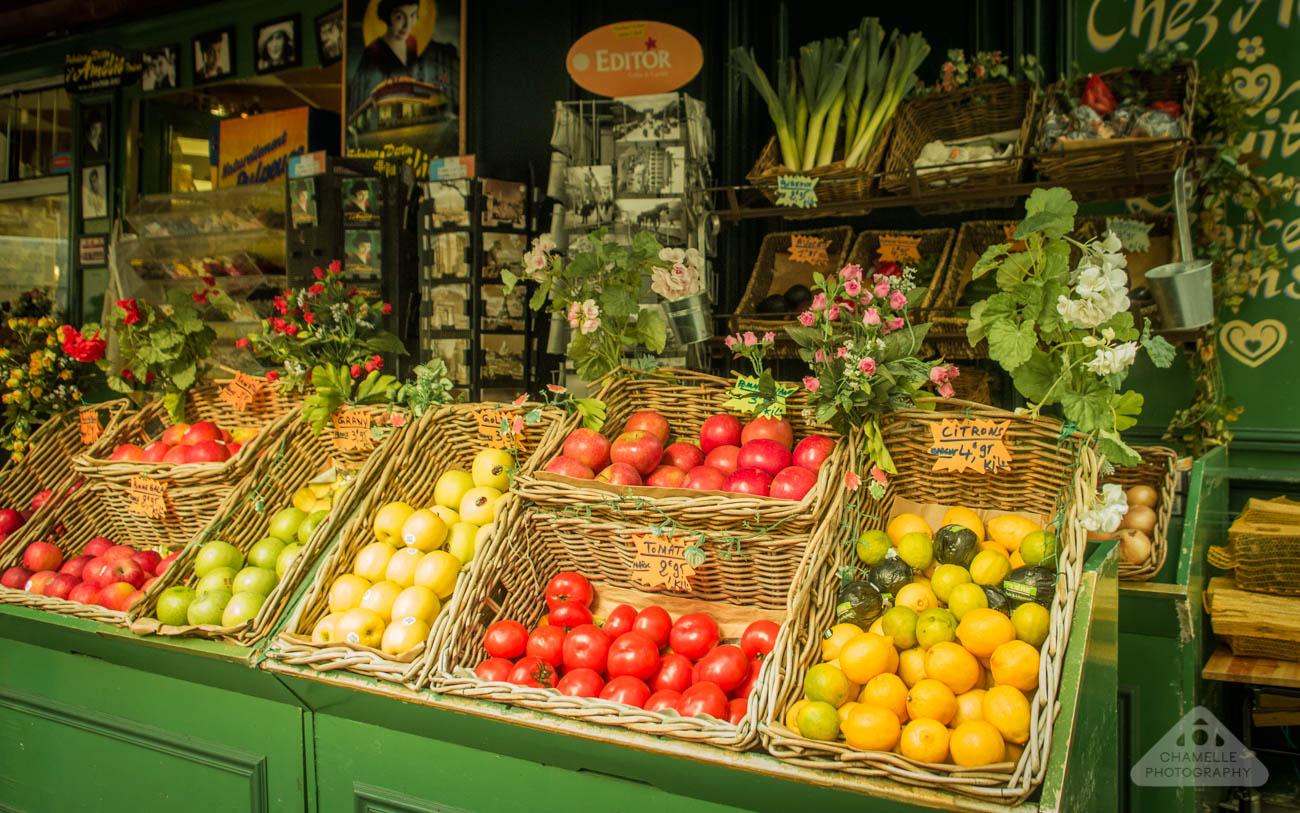 Amelie Poulain film locations Montmartre Paris France travel screenshots Jean-Pierre Jeunet Maison Collignon greengrocer supermarket marché