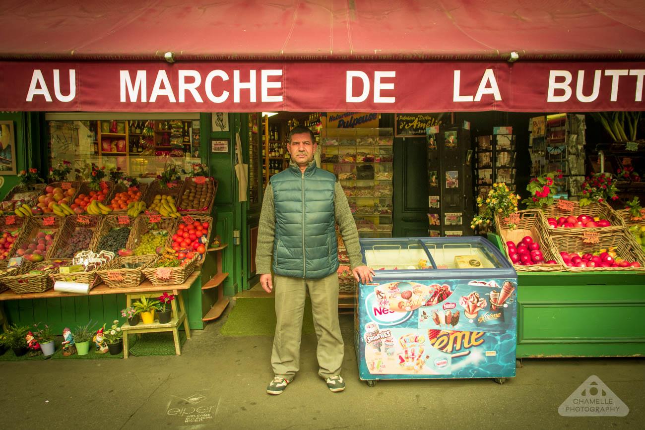 Amelie Poulain film locations Montmartre Paris France travel Maison Collignon Real life Monsieur Collignon supermarket marché