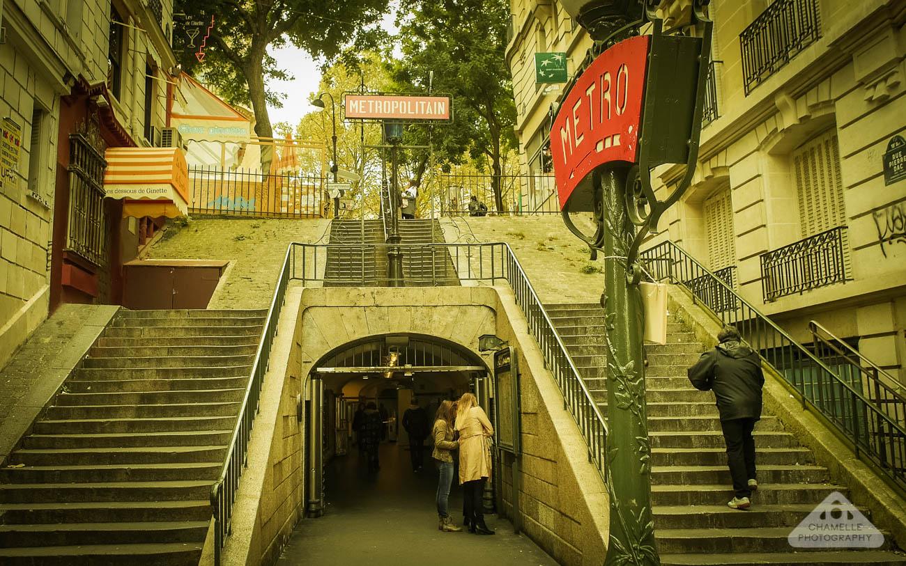 Amelie Poulain film locations Montmartre Paris France travel screenshots Lamarck Caulaincourt metro station