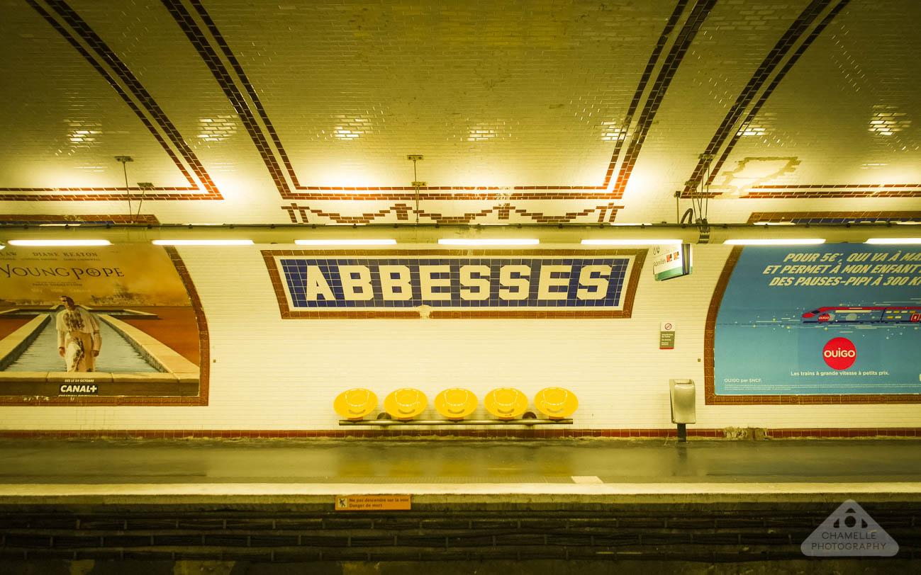 Amelie Poulain film locations Montmartre Paris France travel screenshots Abbesses metro station underground subway