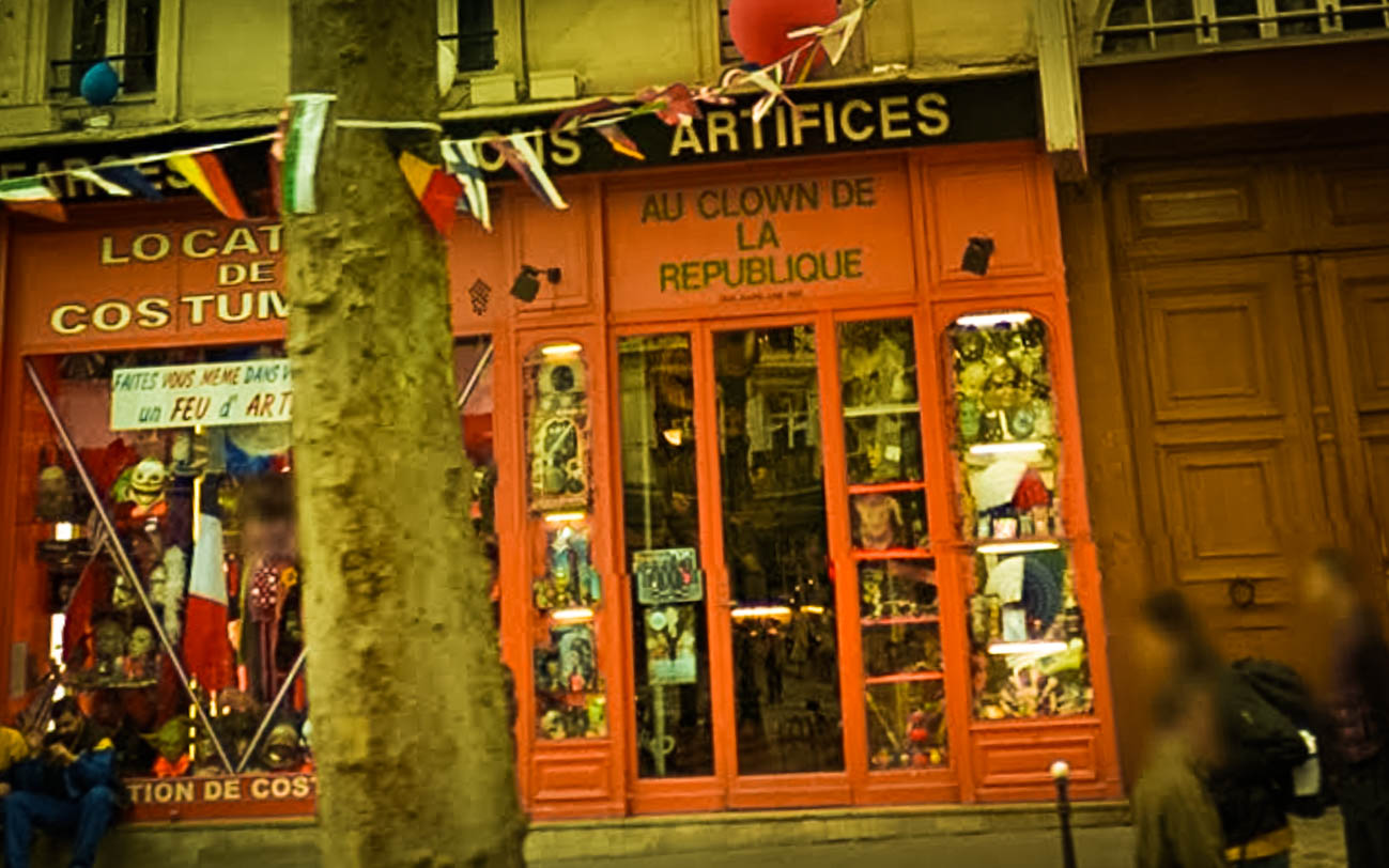 Amelie Poulain film locations Montmartre Paris France travel screenshots Costume hire store