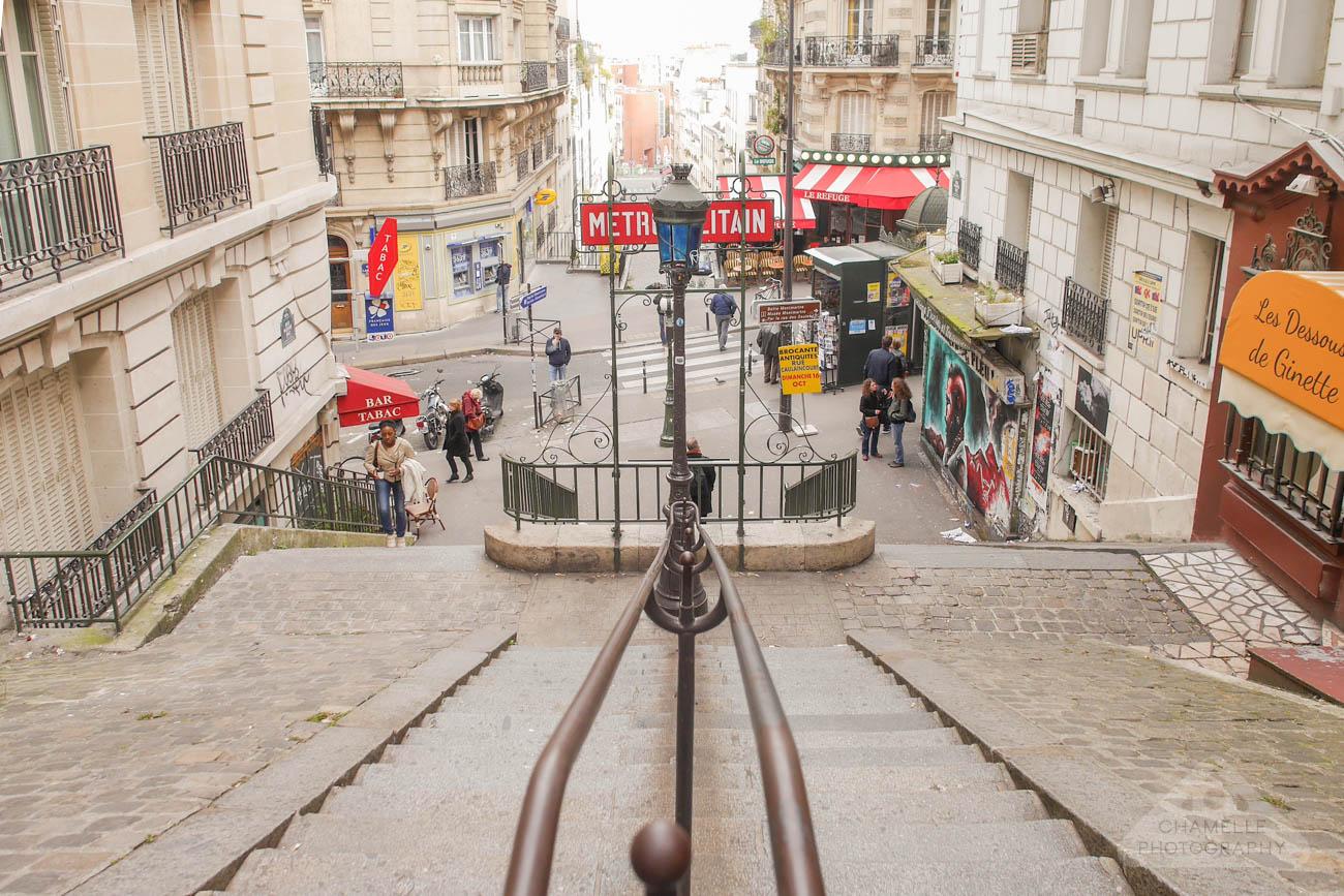 Amelie Poulain film locations Montmartre Paris France travel Metro Lamarck Caulaincourt