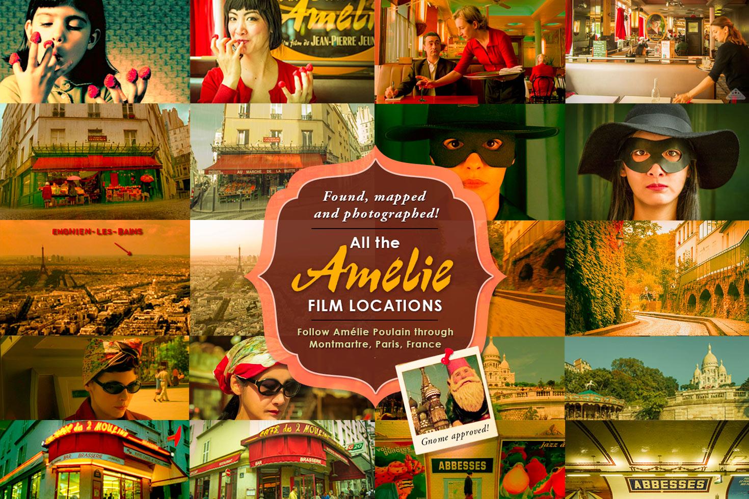 Amélie Poulain Film locations map: Montmartre Paris, Walking tour, Amélie inspired photoshoot and more!