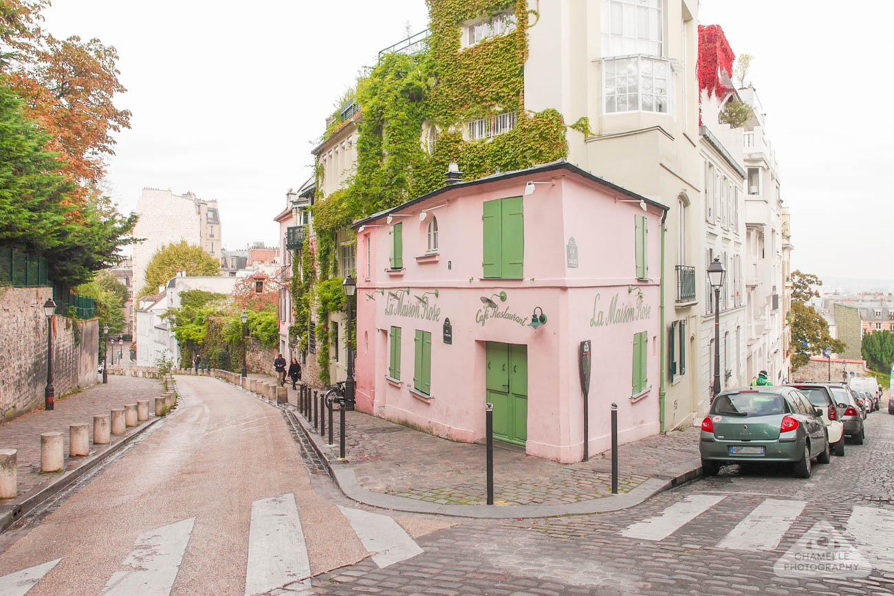 Montmartre Paris France Travel Maison Rose