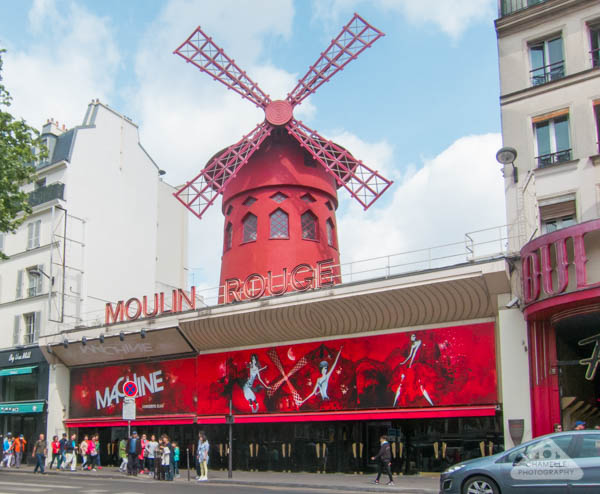 Moulin Rouge Red Windmill Montmartre Paris France Travel Amélie show Pigalle