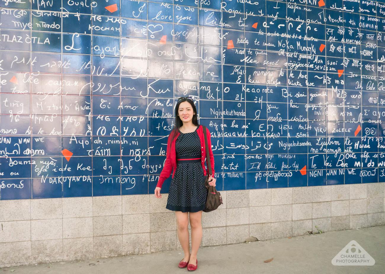 Montmartre Paris France Travel Mur des je t'aime I love you wall languages