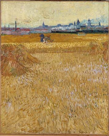 Van Gogh The Harvesters Arles Paris France 1887 painting oeuvre - travel blog