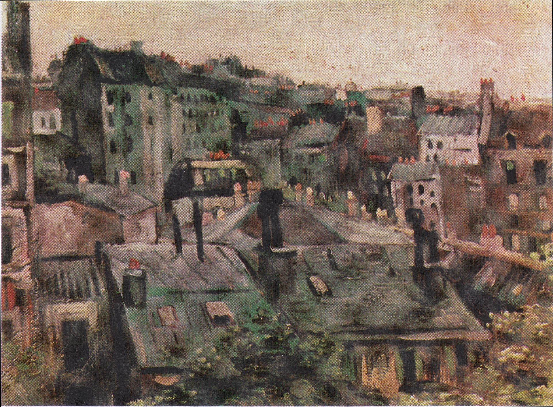 Van Gogh - View of the roofs of Paris 1886