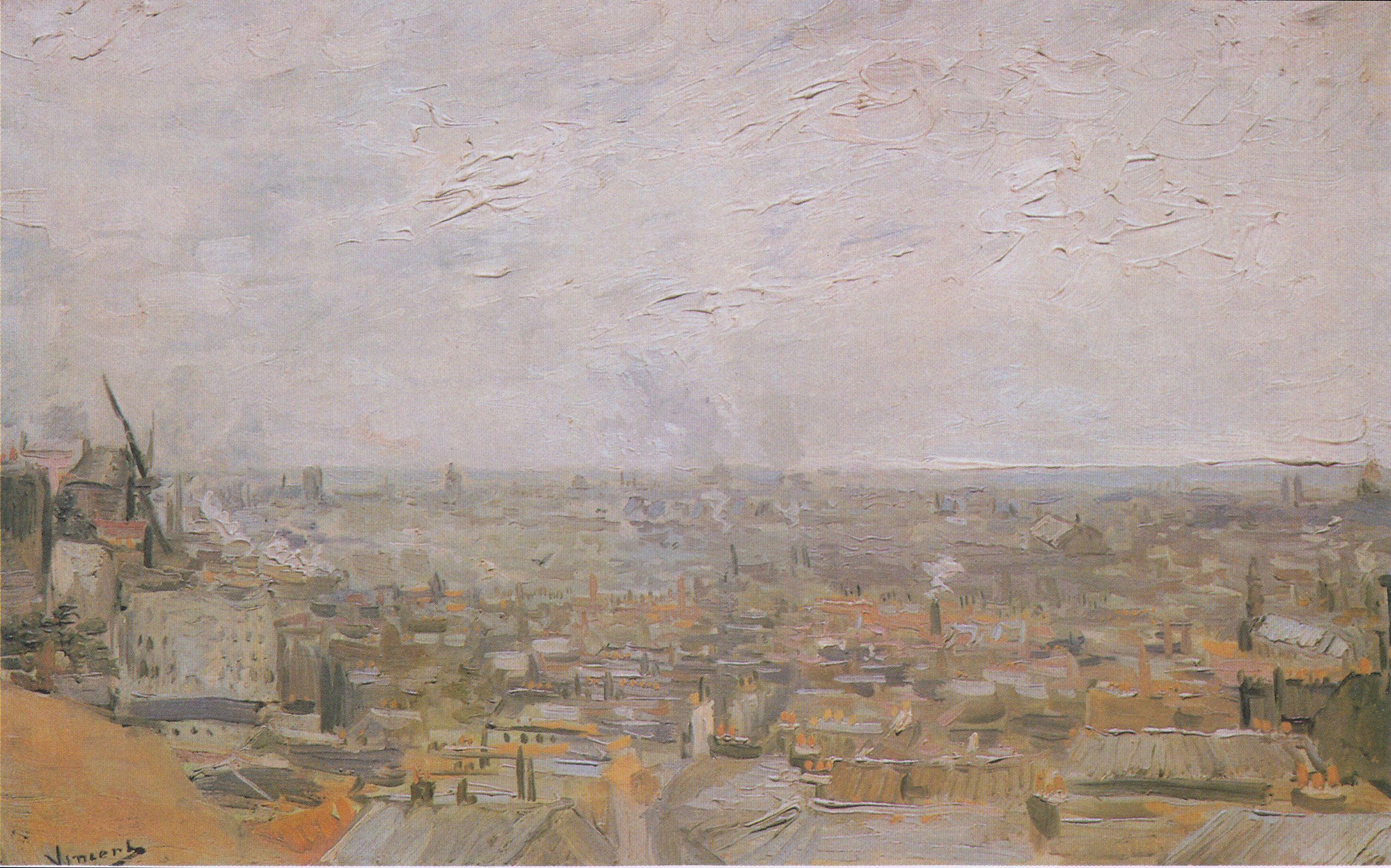 Van Gogh - View of Paris from Montmartre 1886