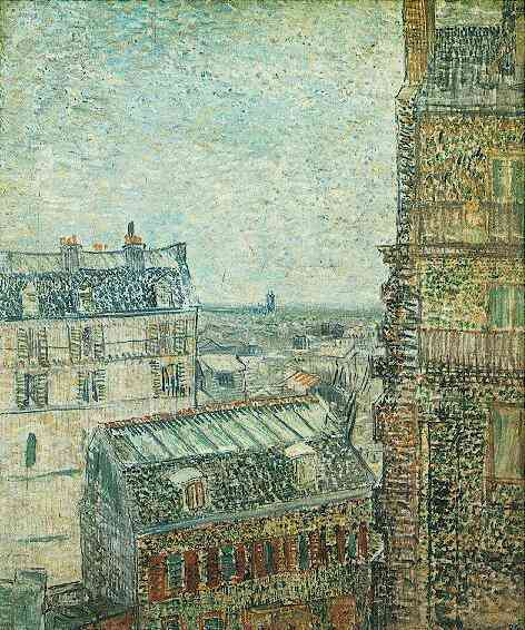Van Gogh - View of Paris from Vincent's room on Rue Lepic Montmartre 1887