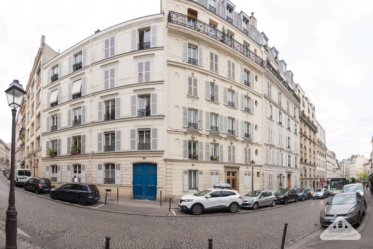 54 rue lepic, montmartre, paris, france panorama - house of vincent and theo van gogh - Chamelle travel blog