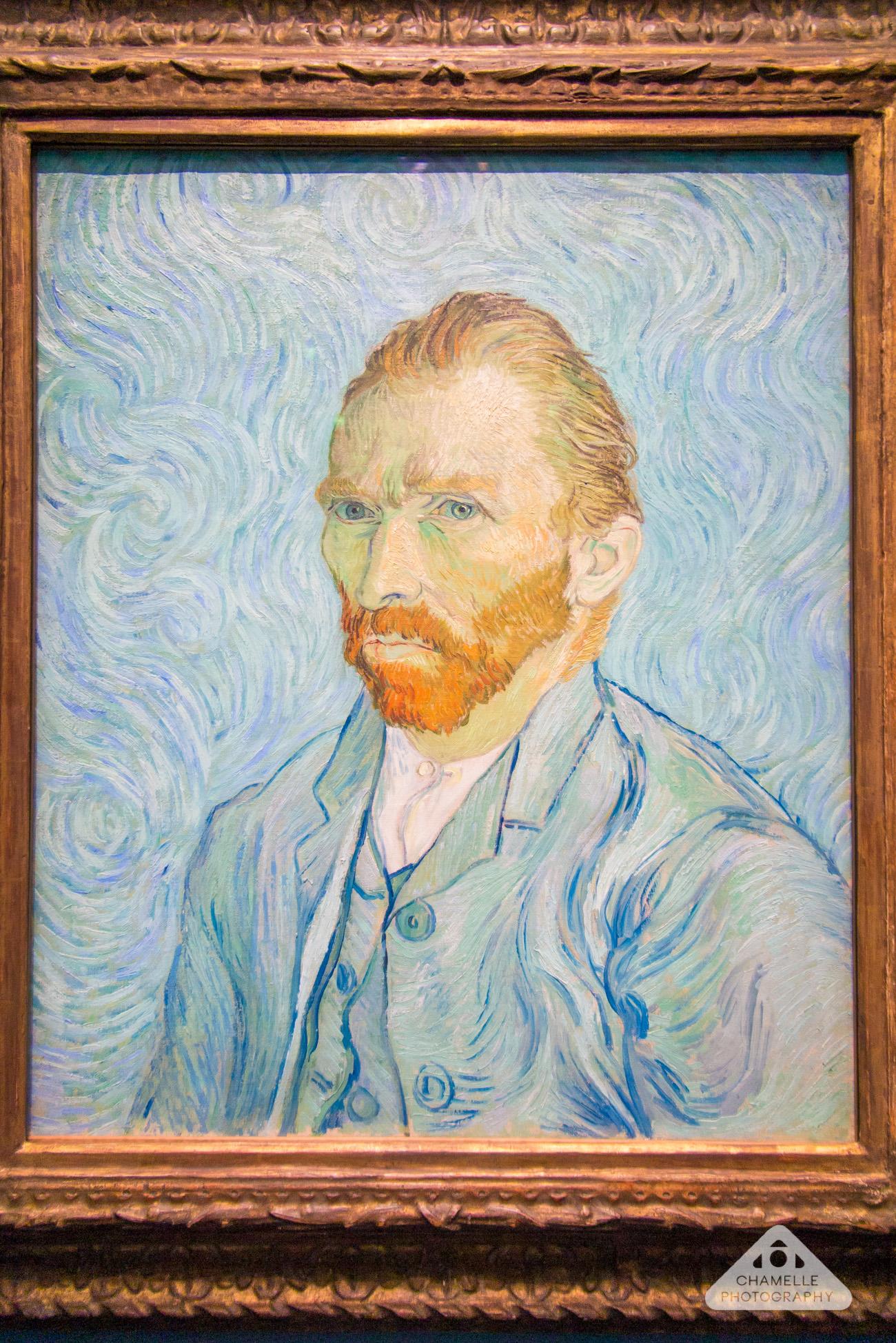 Van Gogh self portrait at Musee d'Orsay Paris travel blog