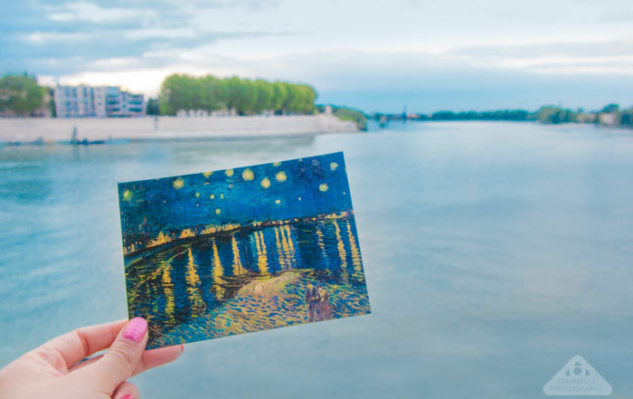 Vincent Van Gogh Starry Night over the Rhone Nuit Etoilee sur le Rhone painting Arles France travel blog