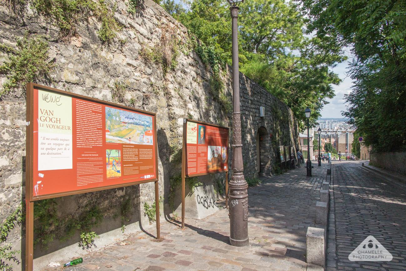 Vincent Van Gogh Trail Paris Montmartre Rue des Saules - Chamelle travel blog