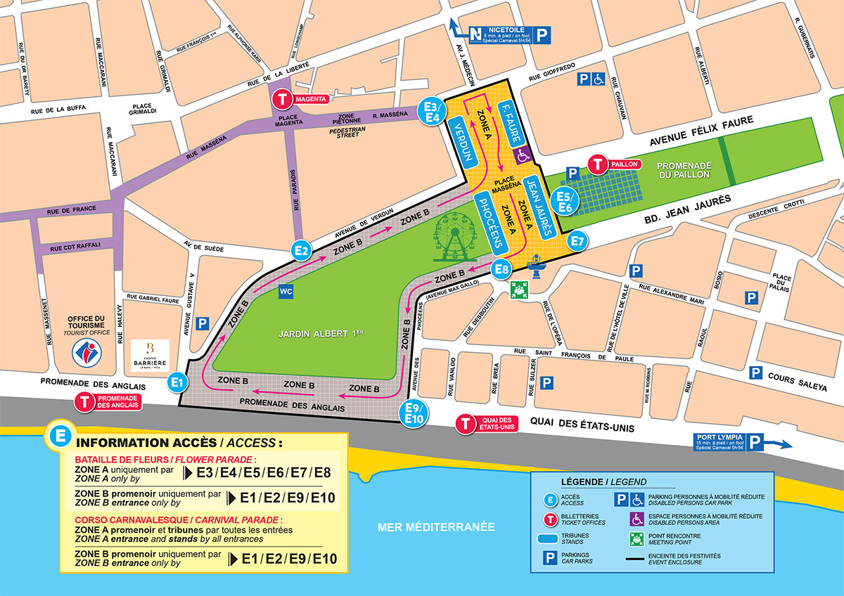 Carnaval de Nice / Nice Carnival - Map - Where should I sit - How to buy tickets - France Travel Blog