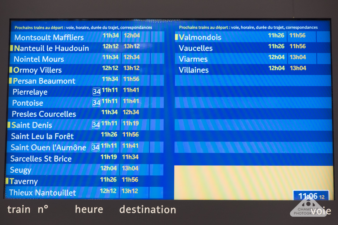 Van Gogh trail Paris Gare du Nord to Auvers-su-Oise RER train rail travel blog