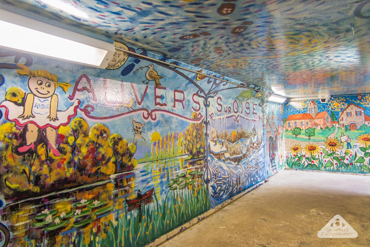 Van Gogh trail Gare d'Auvers-sur-Oise Chamelle Travel photo blog