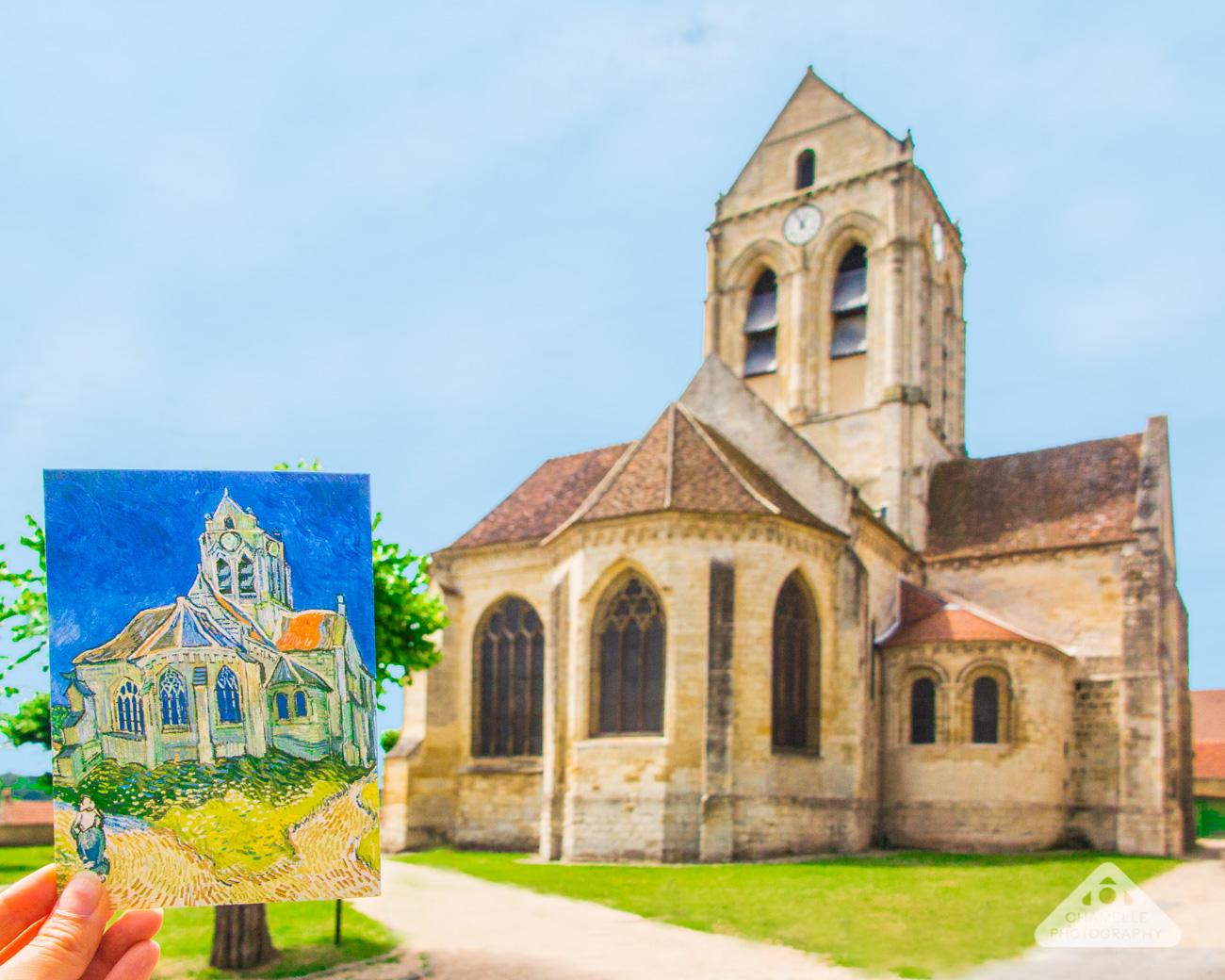 Vincent Van Gogh Trail Paris Auvers-sur-Oise France Eglise notre dame Chamelle travel blog