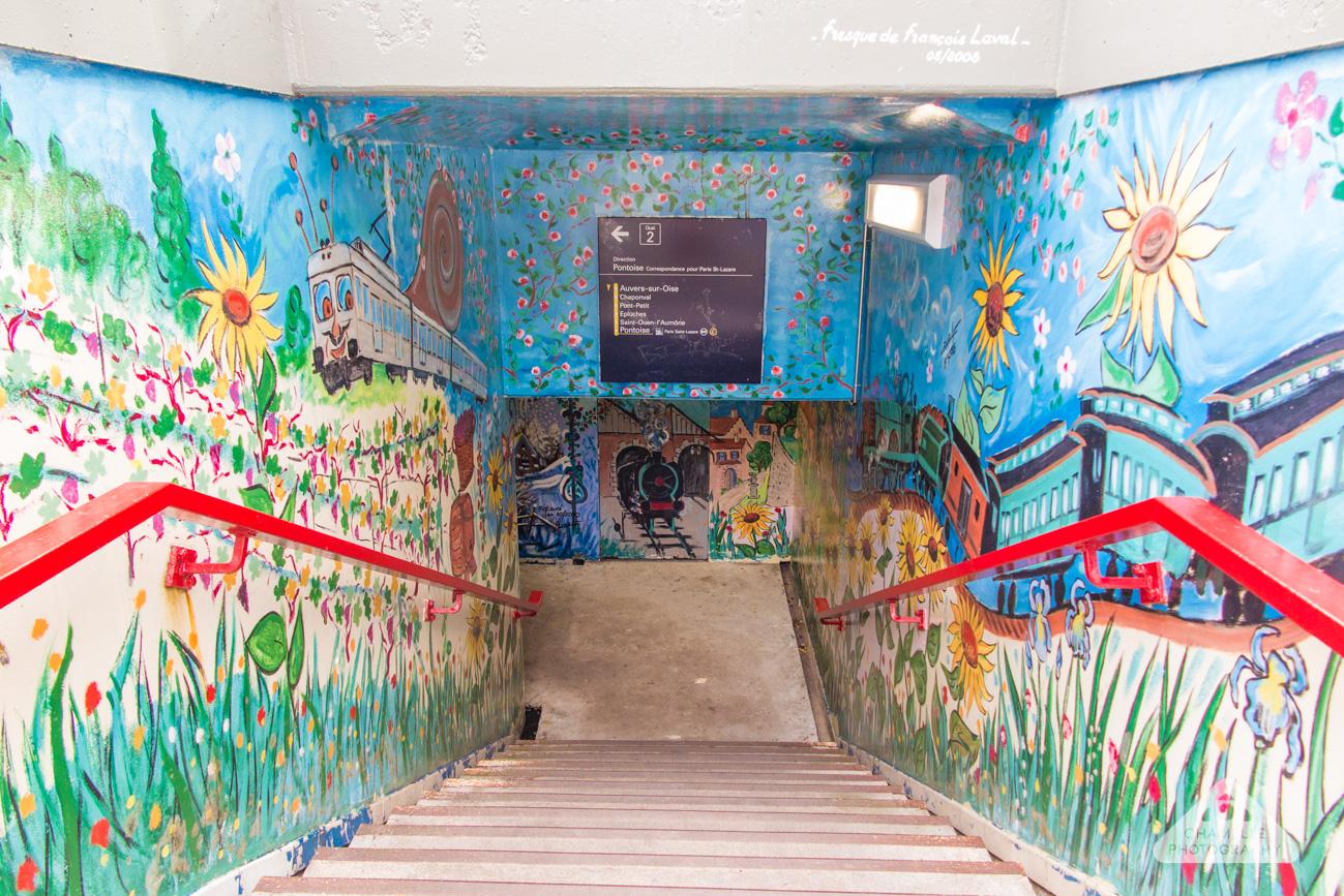 Vincent Van Gogh Trail Paris Gare d'Auvers-sur-Oise France Chamelle travel blog