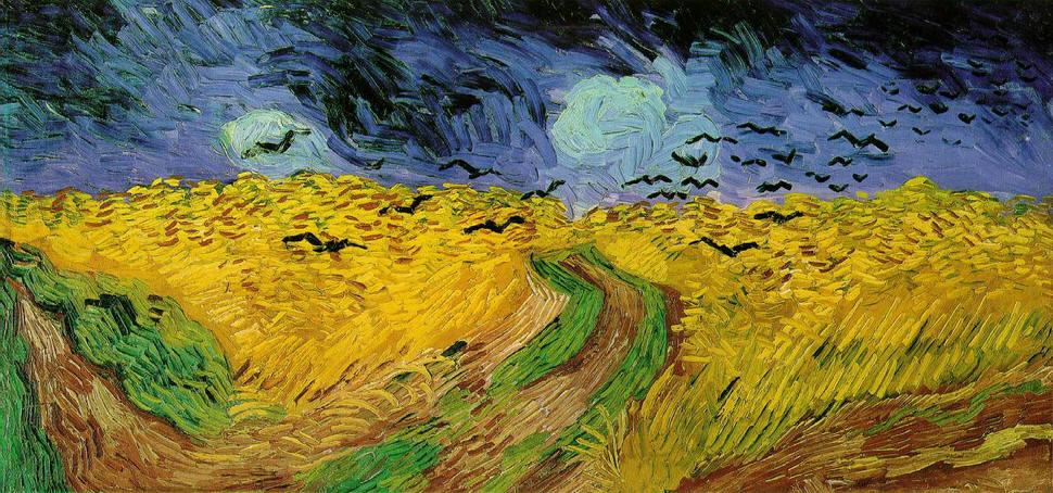 Vincent Van Gogh Wheatfields with Crows Auvers-sur-Oise France painting art